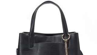 LC Lauren Conrad Lili Large Frame Tote With Coin Purse in Black
