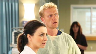 Owen Tries to Coax Amelia Out of the Bathroom on Their Wedding Day in 'Grey's Anatomy' Season 12 Finale Sneak Peek