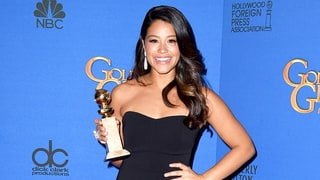 Gina Rodriguez Offers Her 2015 Golden Globes Dress to a Fan for High School Prom