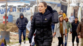 Angelina Jolie Visits Rainy Refugee Camp in Lebanon, Urges International Community to Take Action