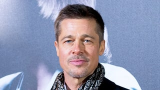 Brad Pitt Saw His Kids for a Christmas Gift Exchange