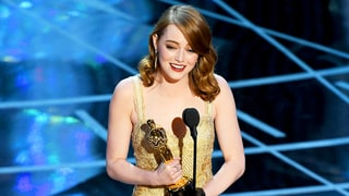 Oscars 2017: Emma Stone Wins Best Leading Actress for 'La La Land'