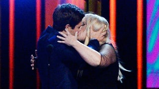 Pitch Perfect 2's Rebel Wilson and Adam DeVine Make Out After Winning the MTV Movie Award for Best Kiss