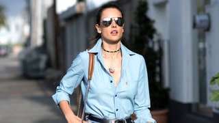 Alessandra Ambrosio Rocked the Same Denim Skirt in Three Different Ways