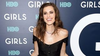 Allison Williams Wears Pants Underneath Her Red Carpet Gown
