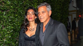 Amal Clooney Wore a Lace Crop Top on Date Night With George