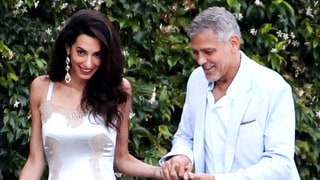 Amal Clooney Spices Up Her Wardrobe With a Lingerie-Inspired Dress