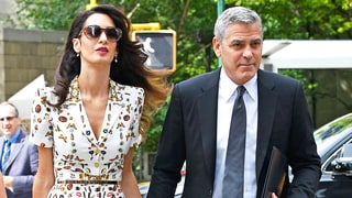 Amal Clooney's Printed Dress Features Lipstick, Butterflies, Pocket-Watches