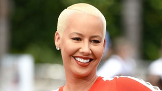 Amber Rose Looks Unrecognizable in Retro Brunette Wig, Blue Contacts