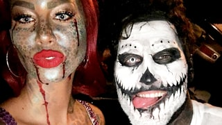 Amber Rose and Val Chmerkovskiy, Zombie Mermaid and Day of the Dead Skull