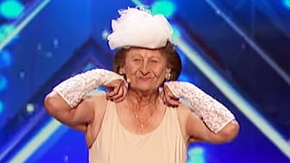 90-Year-Old 'America's Got Talent' Contestant Performs Sassy Striptease: Watch Simon Cowell's Reaction!