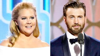 Golden Globes 2016 What You Didn't See on TV: Amy Schumer Cracks Up Chris Evans, Channing Tatum Bros Out With Casper Smart and More!