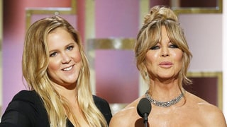 Golden Globes 2017: Goldie Hawn Pretends She Can't Read the Teleprompter As She Presents With Amy Schumer