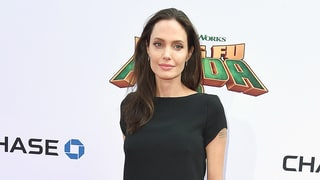 Angelina Jolie Steps Out in Black Minidress at 'Kung Fu Panda 3' Premiere