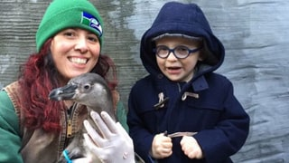 Anna Faris, Chris Pratt's Adorable Son Jack Meets the Penguin He Named for the First Time