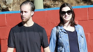 Anne Hathaway Steps Out Smiling After Pregnancy News: See Her Baby Bump