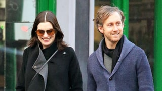 Pregnant Anne Hathaway Looks Radiant During Winter Walk with Hubby Adam Shulman