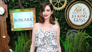 Anne Hathaway Debuts Slim Post-Baby Body in Flirty Floral Dress