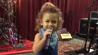 Gwen Stefani's Son Apollo Is Just Like His Mom: See Him Sing!