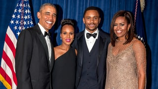 Pregnant Kerry Washington, Husband Nnamdi Asomugha Beam Alongside the Obamas at White House Correspondents' Dinner