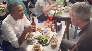 Anthony Bourdain Has Lunch, Beer (For $6!) With President Barack Obama in Vietnam