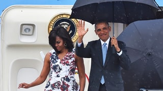 President Obama and Family Arrive in Cuba for Historic Three-Day Visit