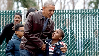 Barack, Michelle Obama Visit Swing Set They Donated to D.C. Shelter: 'Malia and Sasha's Castle'