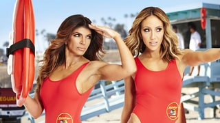 Teresa Giudice and Melissa Gorga Show Off Their Figures in the Iconic 'Baywatch' Swimsuits