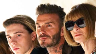 Brooklyn, David Beckham and Anna Wintour