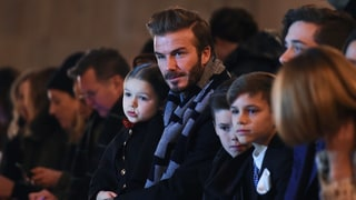 David Beckham and Kids Sit Front Row at Victoria's New York Fashion Week Show: Photos