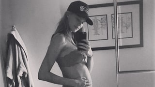 Pregnant Behati Prinsloo Bares Baby Bump in Sexy Lingerie: Photo