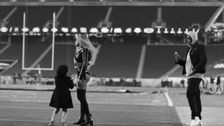Beyoncé Shares Amazing Photos of Blue Ivy on the Super Bowl Turf During Rehearsals