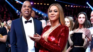 Beyonce Shows Off Her Baby Bump in Sparkling Red Gown at the 2017 Grammys