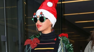 Beyonce Channels a Christmas Tree in Festive Holiday Outfit