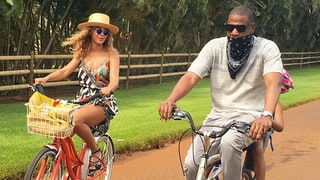 Beyonce, Jay Z and Blue Ivy Get in Formation While Riding Bikes in Hawaii: Photos