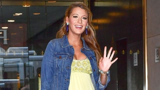 Pregnant Blake Lively Dresses Down Yellow Dress With Jean Jacket