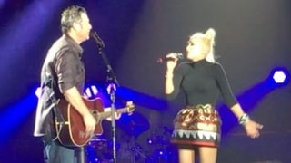 Gwen Stefani Joins Boyfriend Blake Shelton Onstage for Surprise Duet, Fans Freak Out