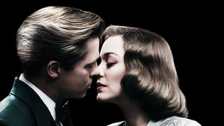 Brad Pitt, Costar Marion Cotillard Nearly Kiss in New 'Allied' Poster