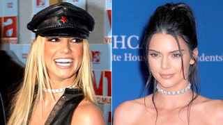 Kendall Jenner and Britney Spears Wear Same Diamond Choker 14 Years Apart