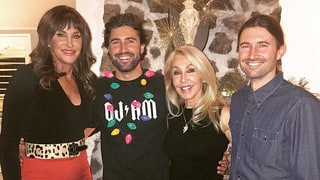 Caitlyn Jenner Rings In Christmas Early With Sons Brody and Brandon, Ex-Wife Linda Thompson: Photo!