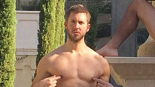 Calvin Harris Looks Smoking Hot in a Speedo in This Shot With His Buddies