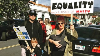 Pink Brings 3-Week-Old Son Jameson, Husband Carey Hart, Daughter Willow to Women's March