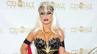 Carmen Electra Looks Unrecognizable As a Platinum-Blonde Sexy Warrior Princess