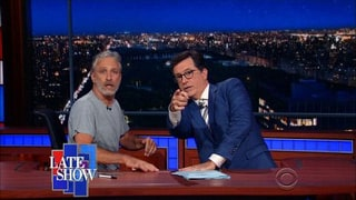 Jon Stewart Takes Over Stephen Colbert's 'Late Show' to Tell Donald Trump Supporters: 'You Don't Own America'