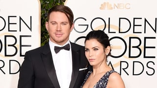 Channing Tatum, Jenna Dewan Tatum Cringe, React to Their Lip Sync Battle on Golden Globes 2016 Red Carpet