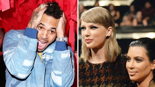 Chris Brown Tells Taylor Swift, Kim Kardashian to 'Shut the F--k Up'