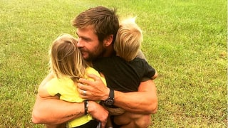 Chris Hemsworth Hugs His Twins on Their 2nd Birthday in Sweetest Photo Ever