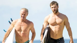 Chris Hemsworth Goes Surfing With His Super Hot, Ripped Dad Craig