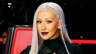 Christina Aguilera Rocks Purple Hair on 'The Voice'