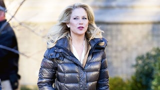Christina Applegate in $395 Soia & Kyo Puffer